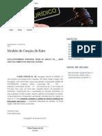 Modelo de Caução de Rato _ RaioX Jurídico