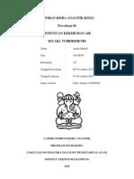 Laporan Kimia Analitik Ki3121 Turbidimetri Agam