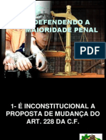 Defendendo a Maioridade Penal