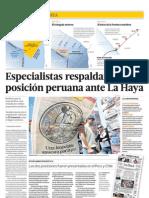 Especialistas respaldan la posición peruana ante La Haya