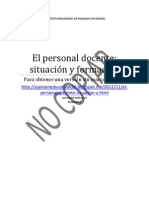 personal docente situacion y formación 12-11-12