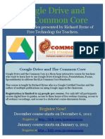 Google Drive and Common Core Flyer