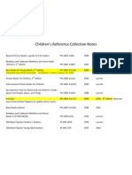 lcc - childrens reference collection - notes