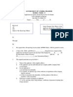 Application Form for the District Office for Grant of Prospecting Licence for Granite Useful for Cutting and Polishing