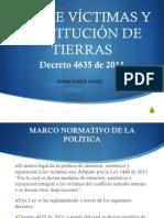 Presentacion de La Decreto Ley 4635 Del 2011 de Victmas Afrocolombianas