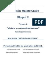 Proyecto 2 Bloque II Quinto Planeacion
