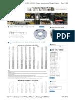 FLange Dimesions B16.5