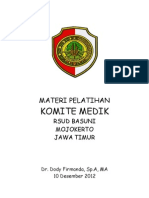 Dody Firmanda 2012 - Komite Medik RSUD Raden Achmad Basoeni Mojokerto 10 Desember 2012