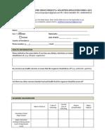 Setafire Volunteer Application Form 2011