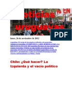 Noticias Uruguayas Lunes 26 de Noviembre Del 2012