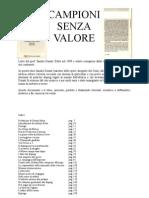 Campioni Senza Valore di Sandro DONATI