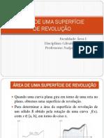 ÁREA DE UMA SUPERFÍCIE DE REVOLUÇÃO