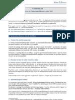 Actualité fiscale, 3ème loi de Finances rectificative pour 2012