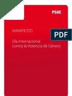 Manifiesto PSOE Día Internacional contra la violencia de género