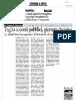 Rassegna Stampa 26.11.12