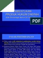 Permendagri Nomor 53 Tahun 2011 Tentang Pembentukan Produk Hukum Daerah