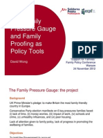 The Family Pressure Gauge and Family Proofing as Policy Tools