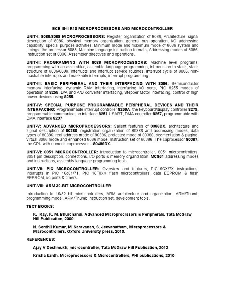 program organization directives in 8086