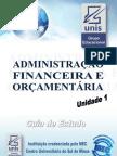 Administracao Financeira e Orcamentaria Unid1