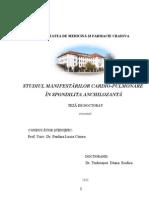STUDIUL MANIFESTĂRILOR CARDIO-PULMONARE ÎN SPONDILITA ANCHILOZANTĂ