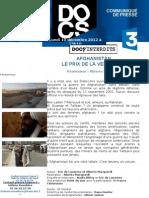 Communique de Presse Afghanistan LE PRIX DE LA VENGEANCE