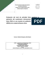 Evaluación de nivel de actividad fisica en Buenos Aires