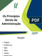 Os Princípios Gerais da Administração