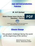 Arif Goheer on Climate Change and Food Production in Pakistan