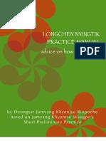 DHARMA Dzongsar Khyentse Longchen Nyingthig Practice Manual