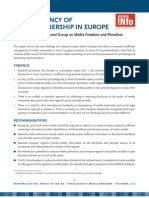 Access Info Europe - Submission to High-Level Group on Media Pluralism - Transparency of Media Ownership in Europe (2012)