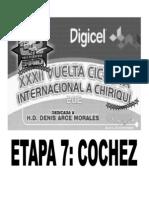 Clasificaciones Oficiales Etapa 7 Vuelta a Chiriqui