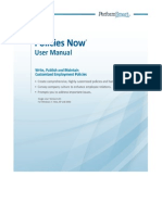 Policies Now Users Manual - PerformSmart