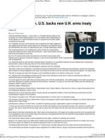 After Obama Win, U.S. Backs New U.N. Arms Treaty Talks