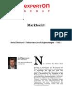 Experton Group Marktsicht; Social Business Definitionen und Abgrenzungen - Teil 1