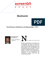 Experton Group Marktsicht; Social Business Definitionen und Abgrenzungen - Teil 1