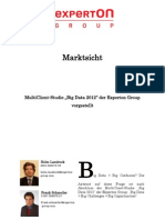 Experton Group Marktsicht; MultiClient-Studie Big Data 2012 der Experton Group vorgestellt