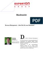 Experton Group Marktsicht;Revenue Management - Alter Hut für neue Branchen