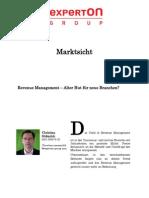 Experton Group Marktsicht;Revenue Management - Alter Hut für neue Branchen