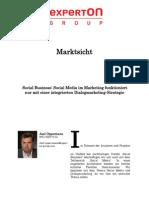 Experton Group Marktsicht;Social Business Social Media Im Marketing funktioniert nur mit einer integrierten Dialogmarketing-Strategie