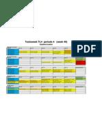 Toetsweek TL4 Periode 4 Lokalenindeling Dec 2012