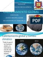 CALENTAMIENTO GLOBAL. René Piña Olavide . Toxi