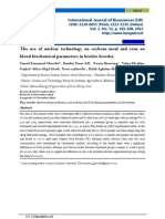 The Use of Nuclear Technology on Soybean Meal and Corn on Blood Biochemical Parameters in Broiler Breeder
