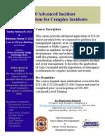 FEMA ICS-400 Advanced Incident Command System for Complex Incidents