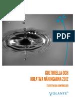 Kulturella och kreativa näringarna 2012 – statistik och jämförelser