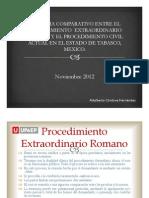 Comparativo Proc. Extraordinario Romano - Proc