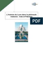 L'histoire du Luxe dans la péninsule Indienne  Inde et Pakistan
