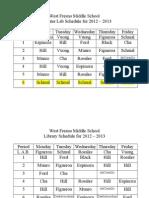 WFMSComputer LibrarySchedule2012 13.Doc