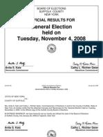 2008 Suffolk County, NY Precinct-Level Election Results