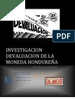 DEVALUACION MONEDA HONDUREÑA