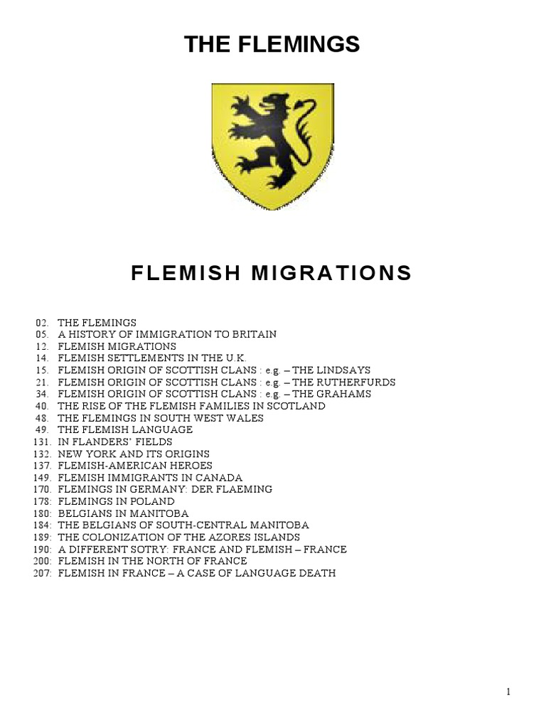 The Flemings - Flemish Migrations and Influence -2 | Flanders | Dutch People